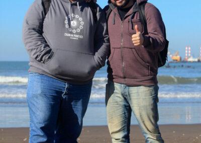 Cristian y Lucas en la Playa