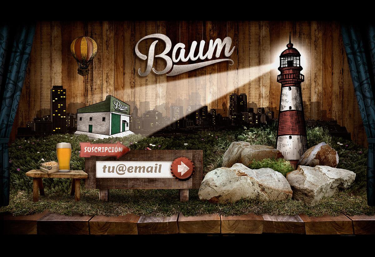 Baum El Faro. Diseño, desarrollo, website, ilustraciones