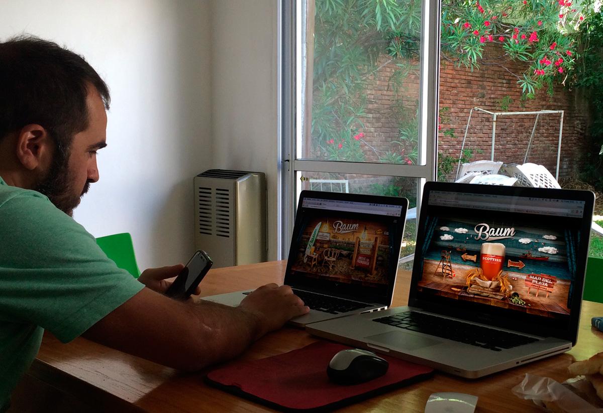 Baum. Test en dispositivos, website. Lucas Lamarche.